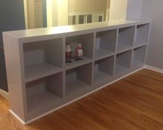 We built a bookcase railing because we didn't want to feel like we lived in Stair Railing Ideas Bookcase built feel lived railing Bookcase Stairs, Built In Bookcase, Basement Stairs, Wall Bookshelves, Basement Ideas, Diy Stair Railing, Railing Ideas, Railing Design, Living Tv
