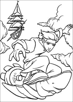 Treasure Planet Coloring Pages On Book