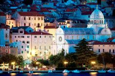 The Sibenik center a UNESCO protected Cathedral in Croatia