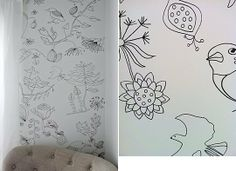 Before & After: Nancy's $5 Wall Treatment — Owen's Olivia