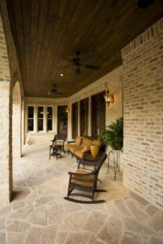 like the cypress ceiling and the stone floor with the brick walls