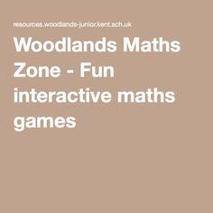 Woodlands Maths Zone - Fun interactive maths games