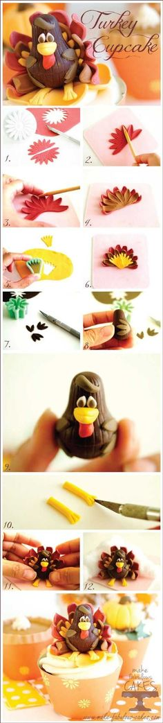 Have you ever seen Thanksgiving turkey cupcake like these in 2014? - Fashion Blog