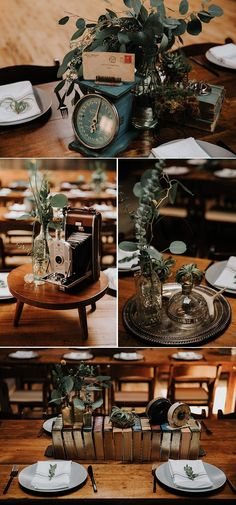 This couple filled this blank canvas venue with vintage details in this beautifu. This couple filled this blank canvas venue with vintage details in this beautiful DIY wedding Wedding Table Centerpieces, Diy Wedding Decorations, Reception Decorations, Centerpiece Ideas, Centerpiece Flowers, Vintage Centerpiece Wedding, Quinceanera Centerpieces, Unique Centerpieces, Centrepieces