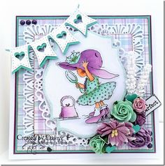 LOTV - New Hat Such a cut UK stamp, wonder what the cost to send to US is? Baby Girl Cards, Card Making Tips, Hobby House, Paper Smooches, Kids Birthday Cards, Marianne Design, Lily Of The Valley, Copics, Color Card