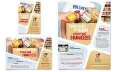 Food Bank Flyer & Ad Template Design