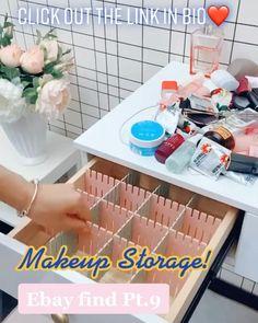 Bathroom Makeup Storage, Makeup Drawer Organization, Makeup Storage Organization, Bathroom Organization, Amazon Hacks, Amazon Gadgets, Make Up Storage, Tool Storage, Hair Product Storage