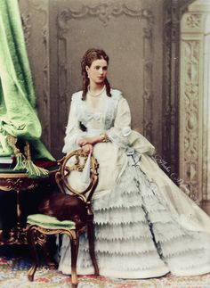 Tsarina Dagmar-Maria Feodorovna Denmark, wife of Tsar Alexander III of Russia, mother of Tsar Nicholas II of Russia & younger sister of Queen Alexandra of the UK Vintage Photographs, Vintage Photos, Maria Feodorovna, House Of Romanov, Colorized Photos, Tsar Nicholas Ii, 19th Century Fashion, Imperial Russia, Victorian Fashion