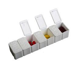 7 Days Tablet Pill Holder White Medicine Storage Organizer Container Weekly