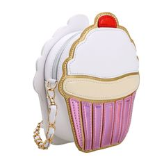 Buy Cute Cartoon Women Ice Cream/ Cupcake Shape Mini Shoulder Bag Metal Chain - Pink - and find your ideal Women Shoulder Bags at affordable prices and fast shipping. Cute Handbags, Purses And Handbags, Leather Handbags, Black Handbags, Mochila Adidas, Ice Cream Cupcakes, Big Purses, Mini Crossbody Bag, Vintage Cameras