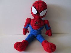 Knitting Pattern For Spiderman Doll : Ravelry: Crochet Spiderman doll pattern by Laurie LeFave