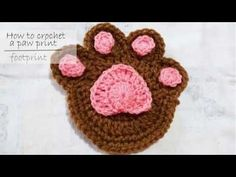 How to crochet a paw print (fingerprint) - PART 2 -  step by step instructions