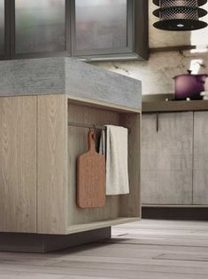 Easily Personalized Loft Kitchen Design in Industrial Style by Snaidero - contemporary kitchen interiors and kitchen furniture in industrial style - Loft Kitchen, Smart Kitchen, Kitchen And Bath, New Kitchen, Kitchen Storage, Kitchen Decor, Kitchen Island, Kitchen Wood, Kitchen Time