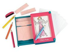 The Pocket Fashion Designer brings your love for fashion in the palm of your hand! With 11 two sided templates, pencils, a rubbing crayon, and paper, the combinations are endless! Pair them, trace them, and color them in to create more than 300 high-style ensembles. Lets her create beautiful outfits - no drawing skills required! Great travel toy. Ages 5 & up.