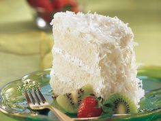 Key Lime Coconut Angel Cake...FABULOUS!   Substitute Fat free sweetened cond. milk and Cool Whip Lite.  Soooo good.