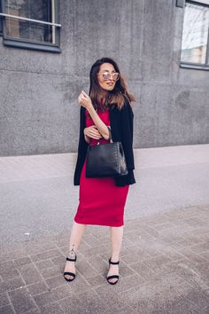 RED DRESS OUTFIT | Tanya Ewwel