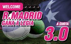el forero jrvm y todos los bonos de deportes: wanabet Real Madrid gana Legia cuota 3 + 150 euros...