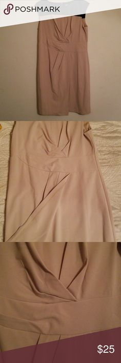Chico's dress Very professional. Sleeveless with high pleathered neckline.  Knee length. Washed but never worn.  Fits more like a size 8. Chico's Dresses Midi