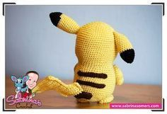 Pikachu - Pokemon - Patrón gratis - Amigurumi Pikachu, Patron Crochet, Crochet Pokemon, Three's Company, Pokemon Fan, Tigger, Tweety, Free Crochet, Dinosaur Stuffed Animal