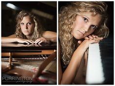 Fun unique creative beautiful idea ideas for pose poses of high school senior pictures with piano keyboard © Purrington Photography www.PurringtonPhotography.com Bemidji Northern Minnesota MN Senior Portrait Photographer