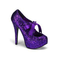 TEEZE-10G-SALE Bordello Purple Glitter Shoes -