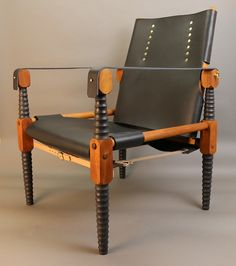 Roorkhee Campaign Chair by Isaiah Schroeder