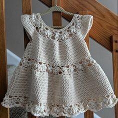 Crochet dress PATTERN Magnolia Dress sizes up to 8 years Crochet Toddler Dress, Crochet Baby Dress Pattern, Crochet Girls, Crochet Baby Clothes, Crochet Baby Hats, Crochet For Kids, Baby Knitting, Booties Crochet, Crochet Patterns