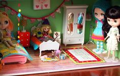 Blythe bedroom - love the bunting!