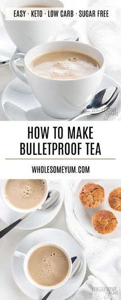 How To Make Bulletproof Tea - This keto bulletproof tea recipe is ready in minutes! It's rich and creamy like a latte, but also lighter than many keto drinks.