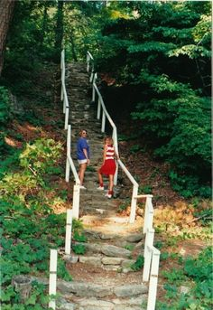 "The steps that ""Baby"" practiced on, in Dirty Dancing. This was taken in 90-91. Near Lake Lure, NC"