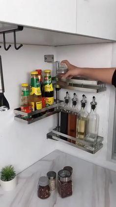 Kitchen Gadgets, Home Gadgets, Kitchen Items, Kitchen Hacks, Kitchen Appliances, Home Organization Hacks, Apartment Kitchen Organization, Refrigerator Organization, Corner Rack