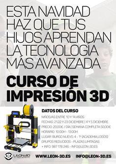 #cursos #formacion #diseño3D #impresion3D #impresoras3D #robotica #arduino #aprendefabricando #minifabrica #diy #navidad #LEON3D