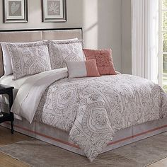 The Haven 6-Piece Comforter Set combines stimulating color and sensational comfort that will bring true style to your bedroom. Boasting a gorgeous coral color, this comforter set is crafted from polyester and radiates fun, vibrant style.