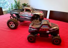 A remote controlled monster truck cake replica of my nephew's favorite toy! A little top heavy, but totally functional. We drove the cake around while singing happy birthday. Truck Cakes, Singing Happy Birthday, Remote, Monster Trucks, Baking, Toys, Activity Toys, Bakken, Clearance Toys
