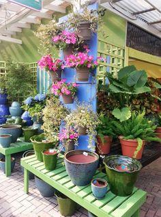 Gethsemane Garden Center Garden Center Displays, Garden Centre, Flower Pots, Flowers, Store Displays, Lawn And Garden, Outdoor Plants, Visual Merchandising, Display Ideas