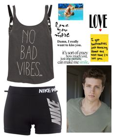 """""""God I love my hot and adorable boyfriend ~ Casey"""" by country-and-gods-girl ❤ liked on Polyvore featuring moda, Agent Provocateur, Dita Von Teese, Billabong, NIKE, Love Quotes Scarves, CUPLÉ, women's clothing, women e female"""
