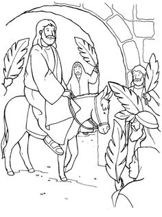 palm sunday coloring pages free 48 Best Palm Sunday images | Sunday school lessons, Palm sunday  palm sunday coloring pages free