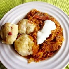 Hungarian Recipes, Cauliflower, Shrimp, Cabbage, Bacon, Food And Drink, Soup, Cooking Recipes, Meat