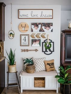 Farmhouse decor elements create interest in any decor