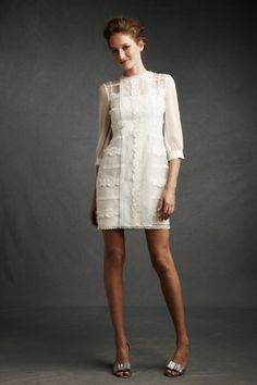 Spun sugar shift dress, BHLDN, $650. Dreamy. (Literally, cuz you'd have to be dreaming if you think I'd spend that much on a dress.)