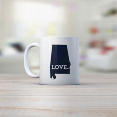 Alabama Mug, Crimson Tide, Alabama Football Gift, Auburn Gift, Graduation Gift, White Ceramic Mug #AuburnGift #ILoveYou #AlabamaMug #CrimsonTide #11OunceMug #CoffeeCup #AlabamaState #AuburnUniversity #AlabamaFootball #CoffeeMug