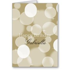 Gold Bokeh Card