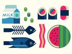 Food #1 by Owen Davey. Illustration