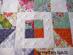 wow - look at that quilting! double wow - beautiful fabric by Kate Spain - looking forward to seeing Terrain!