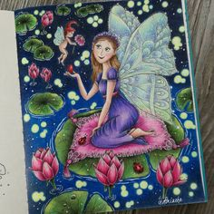 My Midnight Lake Fairy  with huge glittery wings  This was a little color-along with few coloring friends from Slovakia @ivankaledvenyiova @jannnie80 @iwannia ...  Nehyplne Carovnosti / Tenderful Enchantments ...  Prismacolor & white gel pen ... #nehyplnecarovnosti #tenderfulenchantments #klaramarkova #adultcoloringbook #coloringbook #ausmalbuch #ausmalen #målarbok #colouringforadults #coloriage #colorista #instaart #arte_e_colorir #arttherapy #bayan_boyan #divasdasartes #colouring_ma...