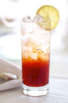 Americano Highball. Campari - sweet vermouth - soda . Lemon peel