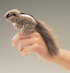 Mini Chipmunk Finger Puppet
