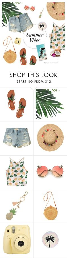 """Summer Vibes"" by tsaniaardhani on Polyvore featuring Tory Burch, Hollister Co., WithChic, Mudd, Fuji and PBteen"