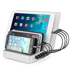 Aizbo USB Charging Station, Multiple Device Charging Dock Desk Organizer Detachable Charge Station, Universal For iPhone / iPad / Smartphones / Tablets Cables Included) Usb Charging Station, Phone Organization, Travel Wall, Selfie Stick, Phone Charger, Iphone Accessories, Technology Gadgets, 6s Plus, Smartphone