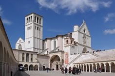 Chruch of St Francis in Assisi. The church was build in the 13th century on the grave of the holy Francis